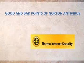 Good and Bad points of Norton Antivirus