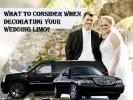 WHAT TO CONSIDER WHEN DECORATING YOUR WEDDING LIMO