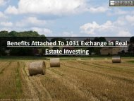 Benefits Attached To 1031 Exchange in Real Estate Investing
