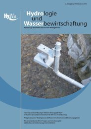 (IW RM ) in the system/catchment approach (EG) - Hydrologie und ...