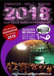 Junge Bühne Mainz - Spielzeitheft Saison 2018