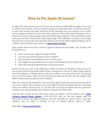 How to Fix Apple ID Issues