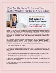 What Are The Steps To Connect Your Brother Wireless Printer To A Computer?