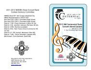 2012 NM Centennial State Concert Band Contest - New Mexico ...