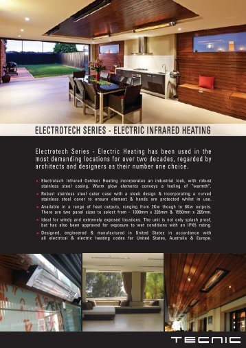 Electrotech Electric Infrared Heating System