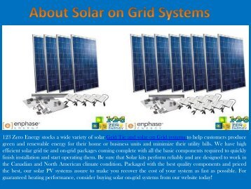 Solar on Grid Systems