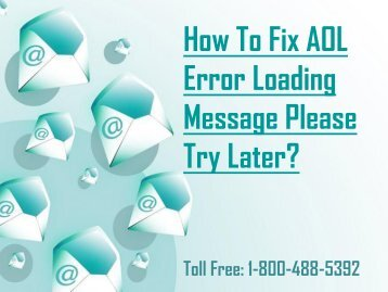 18004885392 Fix AOL Error Loading Message Please Try Later