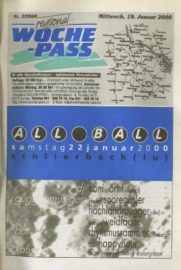 Woche-Pass | KW 3 | 17. Januar 2000