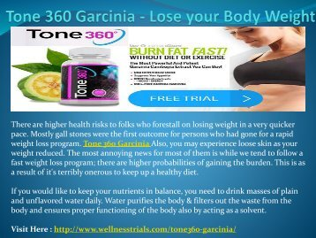 Tone 360 Garcinia - Reduce your Belly Fat
