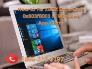 How to Fix XBOX Error Code 0x803f8001 in Windows App Store 18662183197
