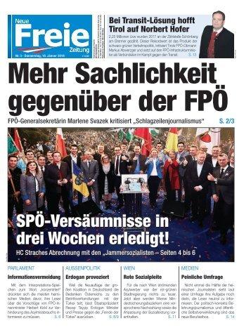 Mehr Sachlichkeit gegenüber der FPÖ