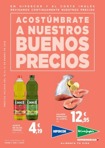 El Corte Inglés supermercado, ofertas del 18 al 31 de enenero 2018