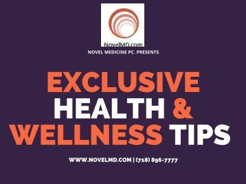 Exclusive Health And Wellness Tips