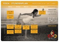 Yoga - Stundenplan