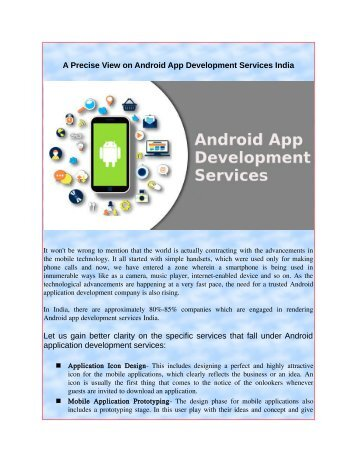 A Precise View on Android App Development Services India