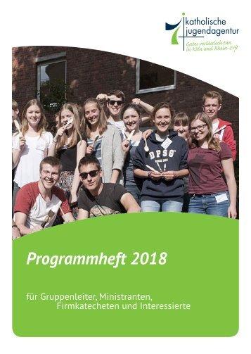 2017-11-28 - KJA Köln - TUV - Jahresprogramm 2018_fin