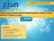 Global Hadoop Market, 2016 – 2022