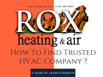 How To Find Trusted HVAC Company
