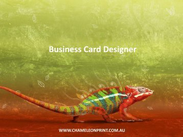 Business Card Designer - Chameleon Print Group