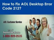 AOL Desktop Error Code 212 Call 1-888-909-0535 Support Number