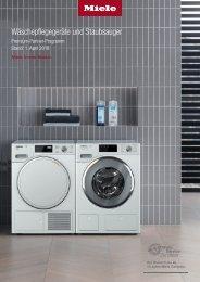 Miele Wäschepflegegeräte und Staubsauger