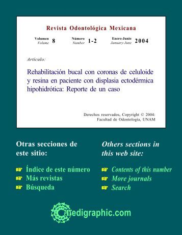 Rehabilitación bucal con coronas de celuloide y ... - edigraphic.com