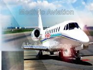 Find Medivic Aviation Air Ambulance Services in Dibrugarh with Medical Team