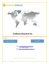 Household Cleaners Market 2017 To 2025 - Share, Growth, Trends and Forecast By Credence Research