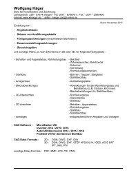 Konstruktion und Zeichnung - Angebotsskizzen, Skizzen von Ausführungsdetails , Fertigungszeichnungen