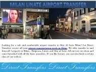 Milan Linate Airport Transfer