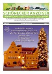 Schönecker Anzeiger Dezember 2014