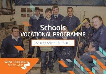 Schools Vocational Programme 2018-19 - Paisley