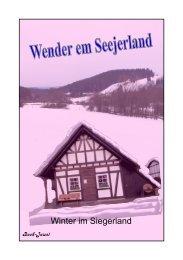 Wender em Seejerland - Winter im Siegerland