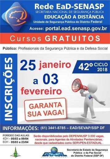 CICLO 42 Inscrições Rede EAD-SENASP