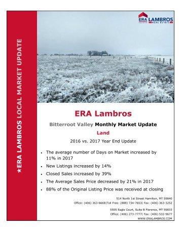 EOY Bitterroot Land Update  2017