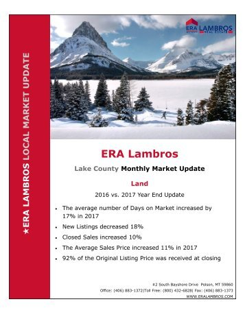 EOY Lake Land Update 2017