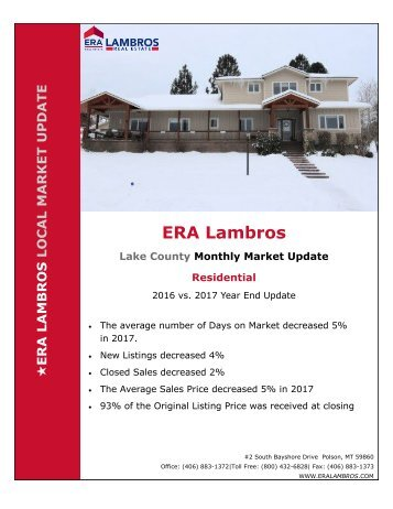 EOY Lake Residential Update Polson 2017