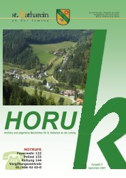 HORUK Ausgabe 5 - September 2007 - Gemeinde St. Katharein an ...