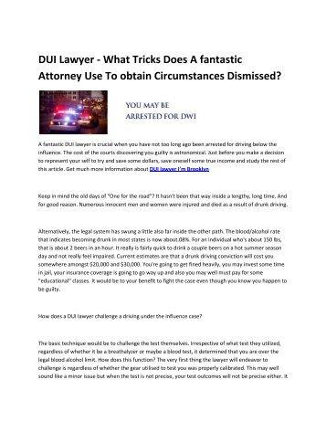6 Brooklyn DWI lawyer