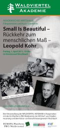 Leopold Kohr - Waldviertel Akademie
