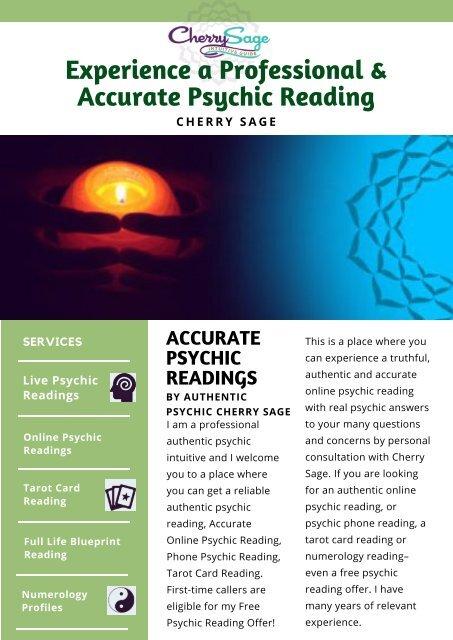 The Best Online Psychic Reading | Cherrysage com
