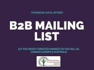 B2B Mailing List - Business Sales Lead