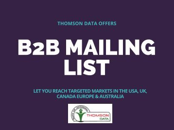B2B Mailing List - Business Sales Lead
