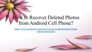 Restore Photos Deleted from Android Phone