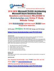 (2018-January-Version)70-535 PDF and 70-535 VCE Dumps 284Q&As Free Share(255-264)