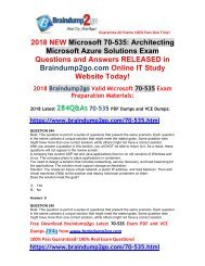 (2018-January-Version)70-535 VCE and 70-535 PDF Dumps 284Q&As Free Share(244-254)