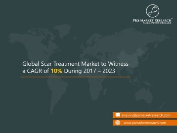 Scar Treatment Market - Global Industry Size, Growth and Future Analysis