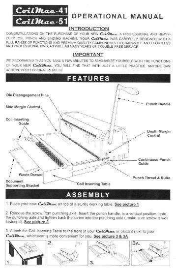 CoilMac M Akiles Manual Punch Coil Binding Machine - Printfinish.com