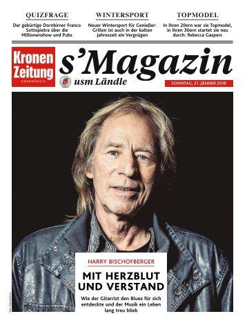 s'Magazin usm Ländle, 21. Jänner 2018