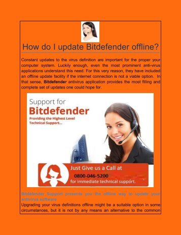 How do I update Bitdefender offline?